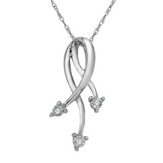 Triple Strand Pendant with Diamonds in 10K White Gold