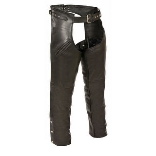Mens Leather Gun Holster Chaps with Thigh Pockets (Option: Xxxl)