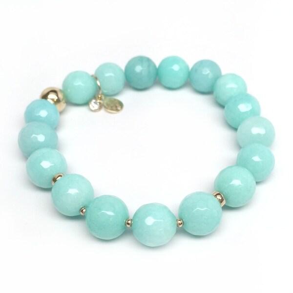 """Aqua Quartz Sophia 7"""" Bracelet"""