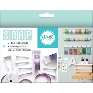 Snap Storage Ribbon Clips 6/Pkg-Medium