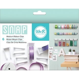 Snap Storage Ribbon Clips 6/Pkg-Medium