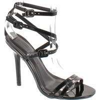 Wild Diva Women's Adele 163 Faux Leather Strappy Ankle Strap High Heel - Black