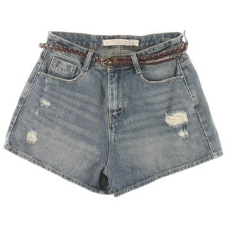 Zara Trafaluc Womens Distressed Casual Denim Shorts - 4