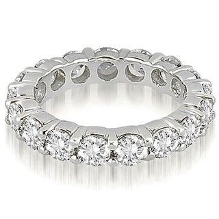 4.25 cttw. 14K White Gold Round Diamond Eternity Ring