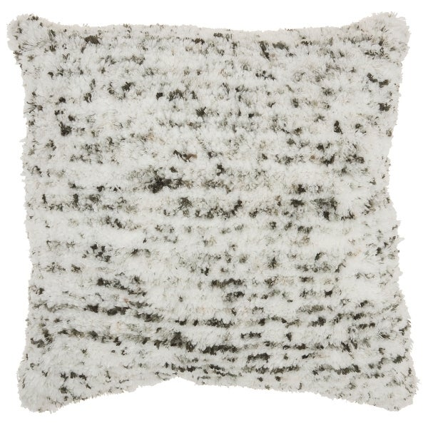 """Mina Victory Life Styles Sprinkle Micro Shag Throw Pillow, (24"""" x 24""""). Opens flyout."""