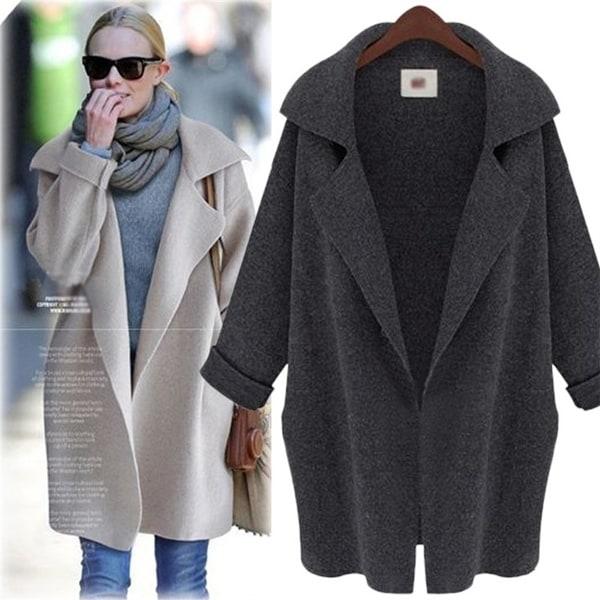 Medium Long Knit Cardigan Coat. Opens flyout.