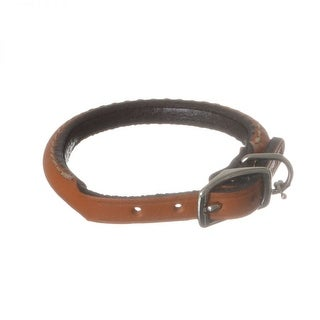 Circle T Oak Tanned Leather Round Dog Collar - Tan