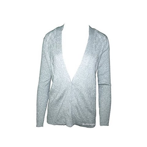 Jones New York Collection Long Sleeve Open Cardigan Grey (P) - Petite
