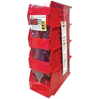 """Quantum RQUS230RD Storage Stack and Hang Bin, Red, 11"""" H x 5-1/2"""" W x 5"""" L"""