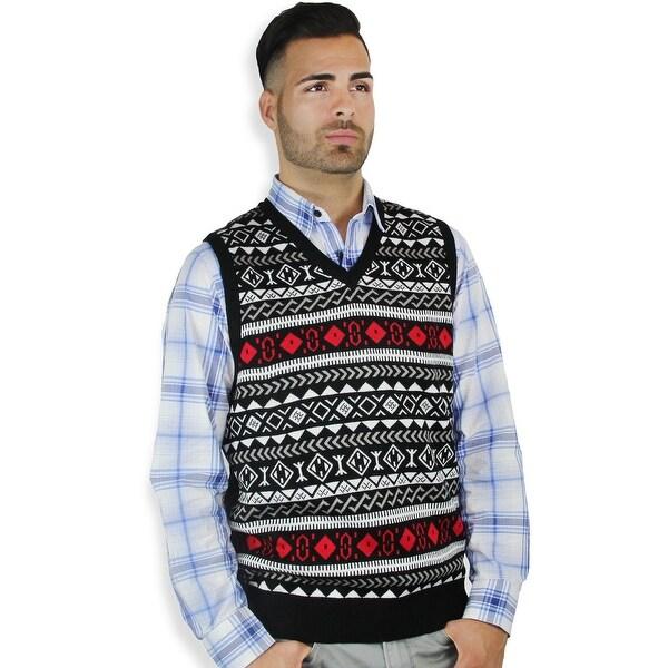 Men's Jacquard Sweater Vest