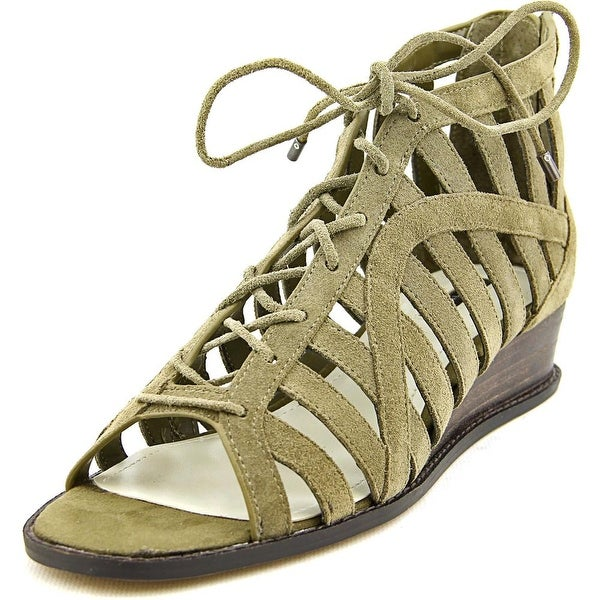 BCBGeneration Madeya Open Toe Suede Wedge Sandal