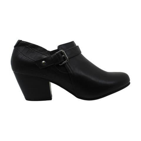 London Fog Womens Hardy Fabric Closed Toe Ankle Clog Boots