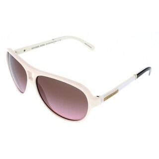 Michael Kors M6008 WAINSCOTT 301214 Oak White Aviator Sunglasses