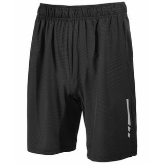 Ideology Black Mens Size Medium M Embossed Stripe Athletic Shorts