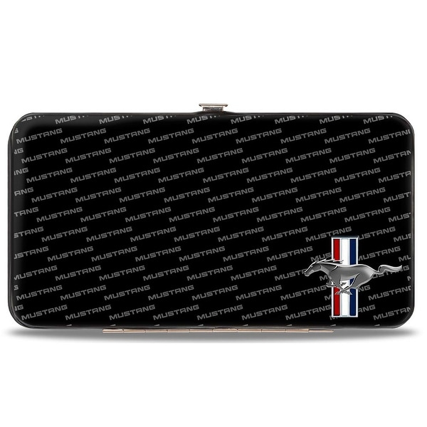 Ford Mustang W Bars Corner W Text Hinged Wallet - One Size Fits most