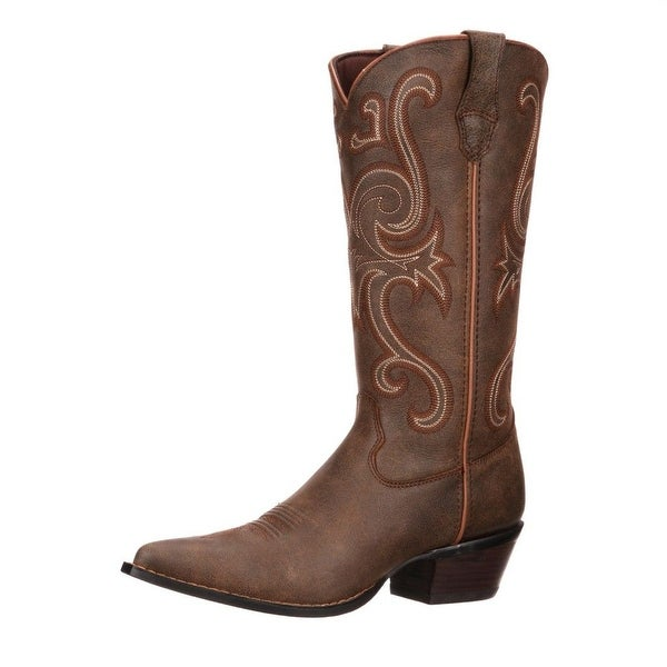 "Durango Western Boots Womens 13"" Crush Jealousy High Brown"