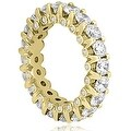4.00 cttw. 14K Yellow Gold Round Diamond Eternity Ring - Thumbnail 2