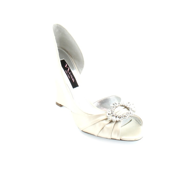 Nina Ellyna Women's Heels Ivory Crystal
