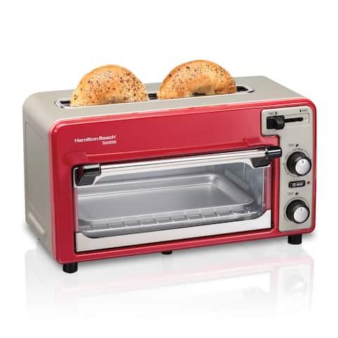 Hamilton Beach Toastation 2 Slice Toaster and Countertop Toaster Oven