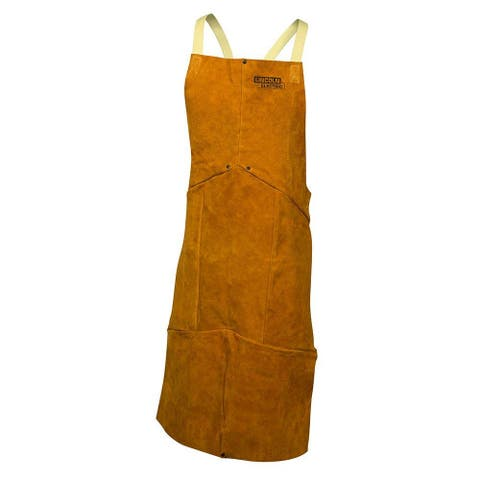 Lincoln Electric KH804 Heavy-Duty Split Cowhide Leather Welding Apron, One Size