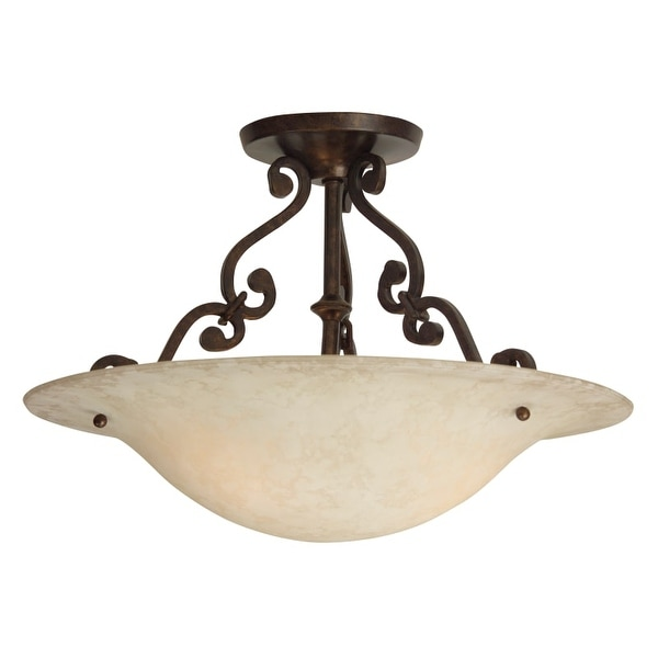 Craftmade X1813 Scroll 2 Light Flush Mount Ceiling Fixture