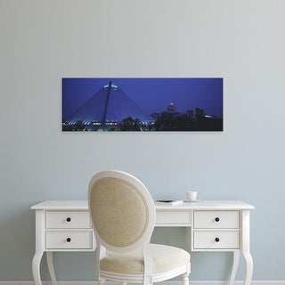 Easy Art Prints Panoramic Images's 'Night The Pyramid and Skyline Memphis TN USA' Premium Canvas Art