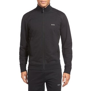 Hugo Boss Green Label Modern Fit Skaz Full Zip Sweatshirt Black Large L