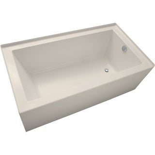 """Mirabelle MIRSKS6032R Sitka 60"""" X 32"""" Acrylic Soaking Bathtub for Three Wall Alcove Installations with Right Drain"""