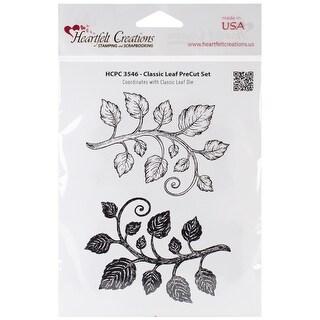 "Heartfelt Creations Cling Rubber Stamp Set 5""X6.5""-Classic Leaf"
