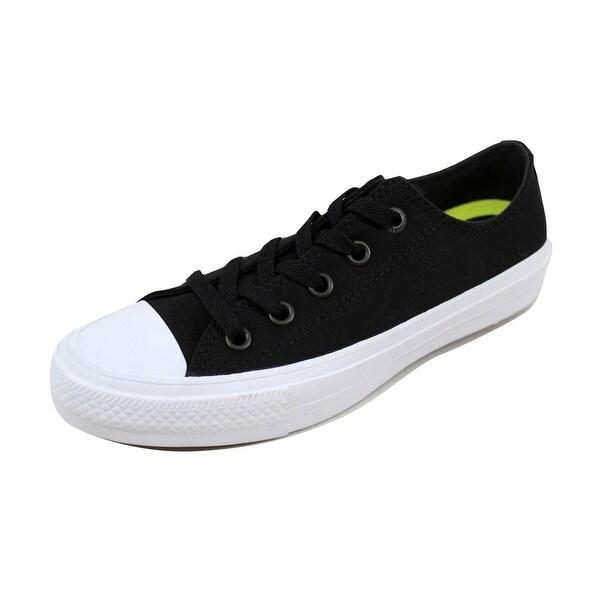 Shop Converse Men's Chuck Taylor II OX BlackWhite 150149C