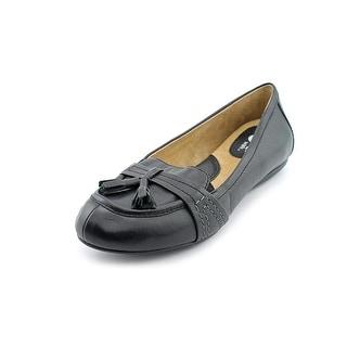 Softwalk Neverland Women Moc Toe Leather Black Loafer