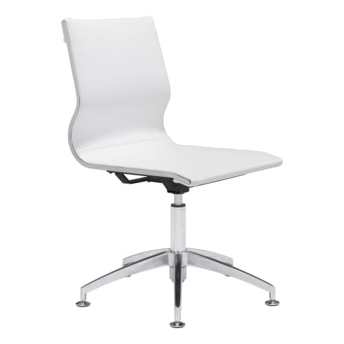 Zuo Modern 100378 Glider 26  Wide Steel Frame Modern Armless Office Chair with S  sc 1 st  Overstock.com & Zuo Modern 100378 Glider 26