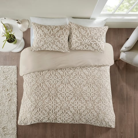 Copper Grove Villach Tufted Cotton Chenille Duvet Cover Set