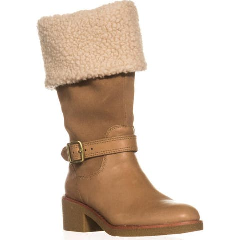 Coach Parka Cold-Weather Boots, Camel/Natural