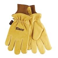 Kinco 94HK-M Thermal Lined Pigskin Gloves, Medium, Gold