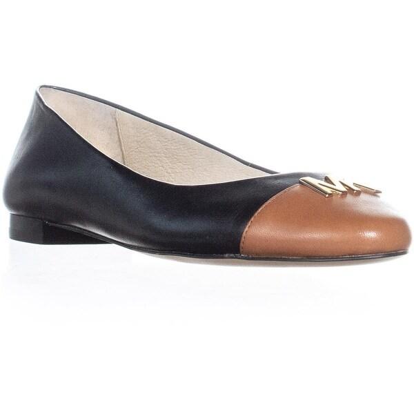 8ef24e75c0c1 Shop MICHAEL Michael Kors Hayley Ballet Flats, Black/Luggage - 7 us ...