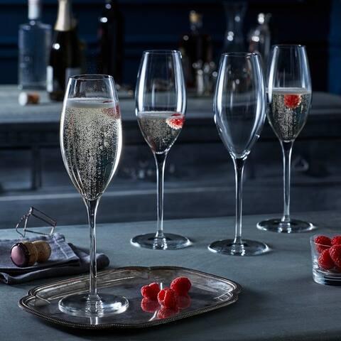 Libbey Signature Westbury Champagne Flute Glasses, Set of 4