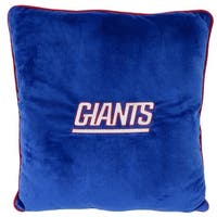NFL New York Giants Licensed Pillow. Comfortable, Soft-Plush Top-Quality for Pets, Kids, Sofa