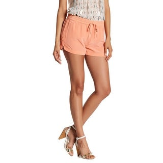 Joie Coral Pink Women's Medium M Drawstring Genaro Silk Shorts