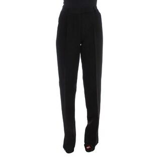 Ermanno Scervino Black Striped Cotton Blend Wide Legs Pants