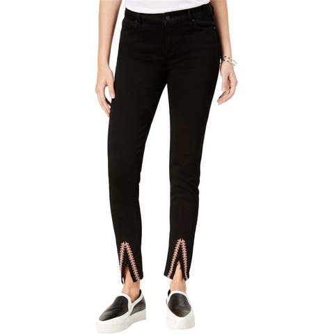 Celebrity Pink Womens Embroidered Skinny Fit Jeans