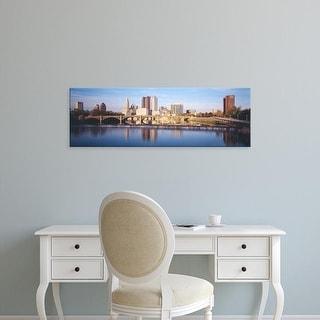 Easy Art Prints Panoramic Images's 'Bridge across a river, Scioto River, Columbus, Ohio, USA' Premium Canvas Art