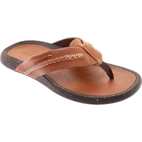 9e4ebf7a475b Shop Cole Haan Men s Brady Thong Sandal British Tan Leather - Free ...