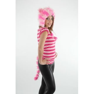 Cheshire Catarina Hat & Tail Costume Set Unisize - Pink