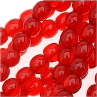 Czech Glass Druk 4mm Round Ruby Red (100)