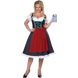 Oktoberfest Fraulein Costume, Hoty Oktoberfest Costume - Black/Red