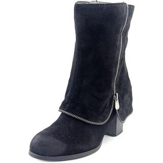 Fergalicious Tillie Women Round Toe Synthetic Black Mid Calf Boot