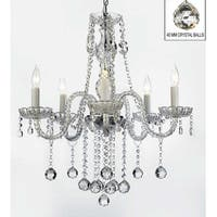 Swarovski Elements Crystal Trimmed Authentic Chandelier Lighting With Faceted Crystal Balls
