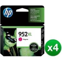 HP 952XL High Yield Magenta Original Ink Cartridge (L0S64AN)(4-Pack)