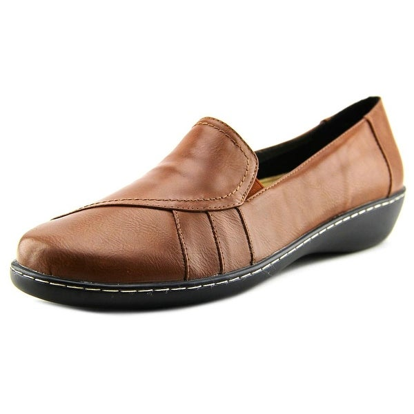 Beacon Heloise Women Round Toe Synthetic Brown Loafer